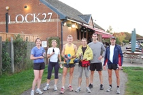 Group outside Lock 27 Pub