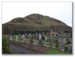 View of hill from Girvan Cemetery