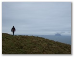 On the ridge - Ailsa Craig in the distance