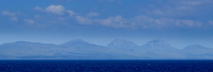 Jura profile from the ferry
