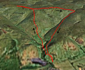 Google Earth image of route