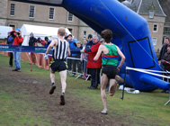 Close finish between Mark Pollard and Thomas Russell