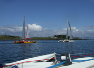 First two boats away from Oban - Memec and Aberzen
