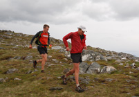 Mark and Spyke descending Sgurr na Sgine