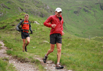 Spyke and Mark arriving at Glen Shiel