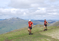 Spyke and Mark Hartell at second summit - A' Chralaig