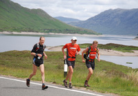 John Fleetwood, Spyke and Mark Hartell at Loch Cluanie