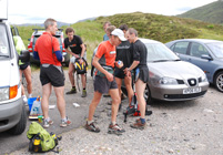 Leg 1 to 2 changeover at junction near Cluanie Inn