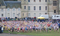 The start of the men's race