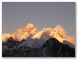 Everest and Lhotse at Sunset