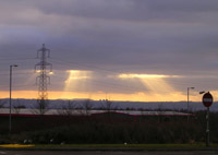 Dramatic sky from Newhouse Industrial Estate on drive home