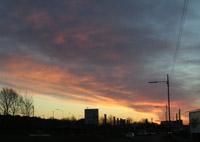 Sunrise on drive to work