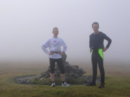 Damon and Crispin - summit of White Coomb