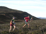 Stewart Whitlie passing Sandy Bennet on Leg 3