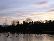 Sunset over Moffat Duck Pond