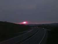Sunset on drive back to Glasgow