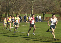 Action from the men's race