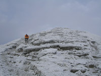 Final rock slabs before the summit