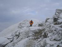 Donald on the summit ridge