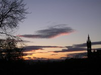 Sunset from Park Circus, Glasgow