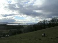 Looking across Loch Leven