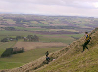 Trevor descending West Lomond