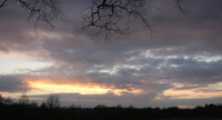 Sunset at Drumpellier Country Park