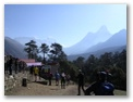The final morning at Tengboche