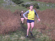 Dave Calder chased by Eilidh Wardlaw