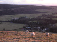 Looking down on Clachan of Campsie