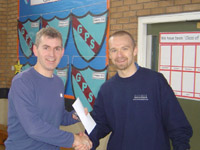 Chris at prize giving