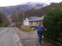 Murdo McEwan limbering up for Mont Blanc Ultra