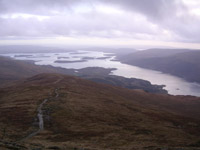 Looking down towards Loch Lomond