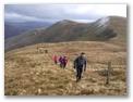 Climbing Beinn Tharsuinn