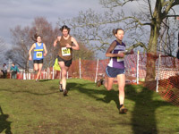 Helen Stuart leads Megan Clark and Michelle Sandison