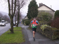 Bowland Vets - Tim Kelly 'enjoying' the final climb to the finish