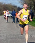 Chris at the finish