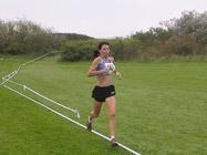 Susan Finch leading the 1st leg