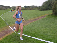 Jackie Thomson leading the 2nd leg